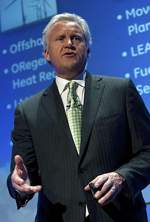 Jeffrey Immelt, chairman and chief executive officer of General Electric Co., speaks at a news conference in San Francisco, California, U.S., on Tuesday, July 13, 2010. GE called for entries in a 10-week contest to speed global power-grid upgrades, promising to invest in the best submissions from a $200 million fund and help market them. Photographer: David Paul Morris/Bloomberg *** Local Caption *** Jeffrey Immelt Photo: David Paul Morris, Bloomberg