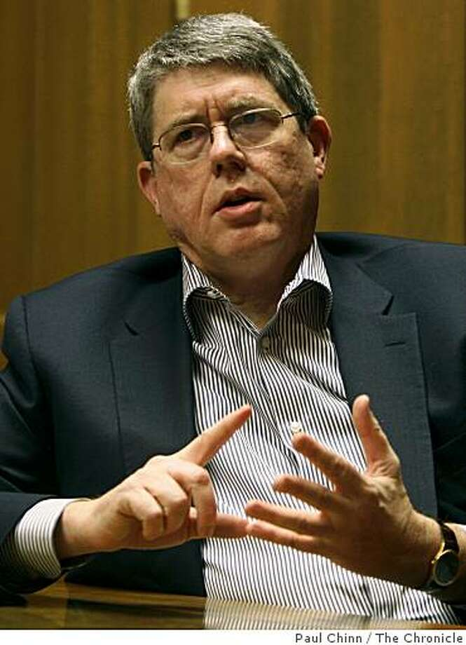 Tim Kahn, CEO of Oakland-based Dreyer's Ice Cream, meets with Chronicle business editors during a Q&A session in San Francisco, Calif., on Friday, Nov. 14, 2008. Photo: Paul Chinn, The Chronicle