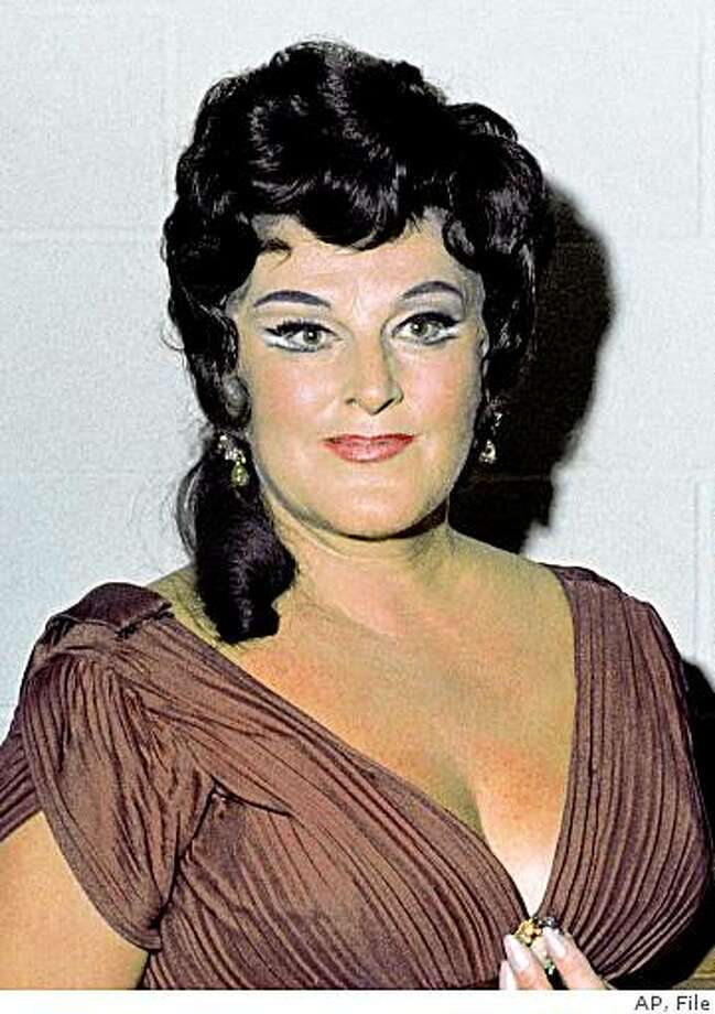 ** FILE ** In this Oct. 4, 1968 file photo, Opera Singer Birgit Nilsson, acclaimed as the greatest Wagnerian soprano of the post-World War II generation, is shown at the Met Opera in New York. (AP Photo, file) Photo: AP, File