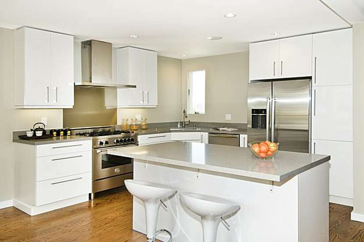 A shot of a kitchen in a building on Yukon Street that recently underwent a long renovation.