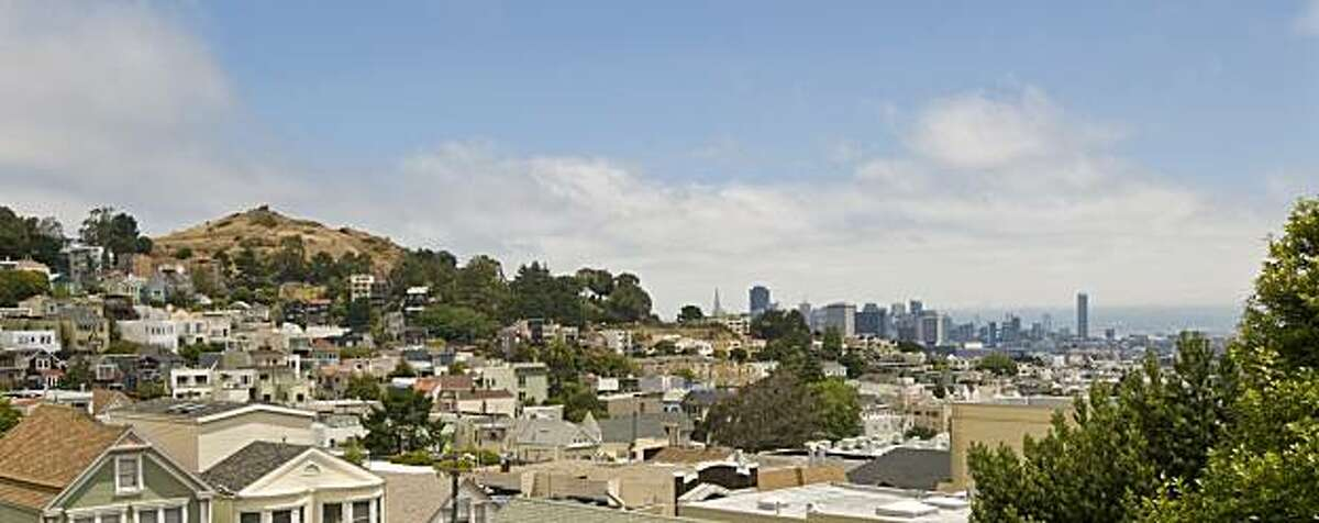 A shot of the view from a building in the Castro that recently underwent a renovation.