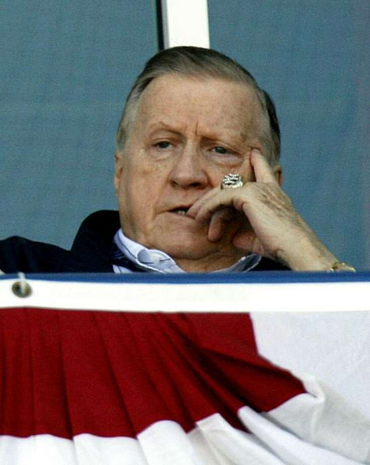 TAMPA, FL - MARCH 2: (FILE PHOTO) New York Yankees owner George Steinbrenner looks at the field before the start of their preseason game against the Philadelphia Phillies March 2, 2006 at Legends Field in Tampa, Florida. Steinbrenner, former owner of theNew York Yankees, died July 13, 2010 after suffering a heart attack at the age of 80. Photo: Eliot J. Schechter, Getty Images