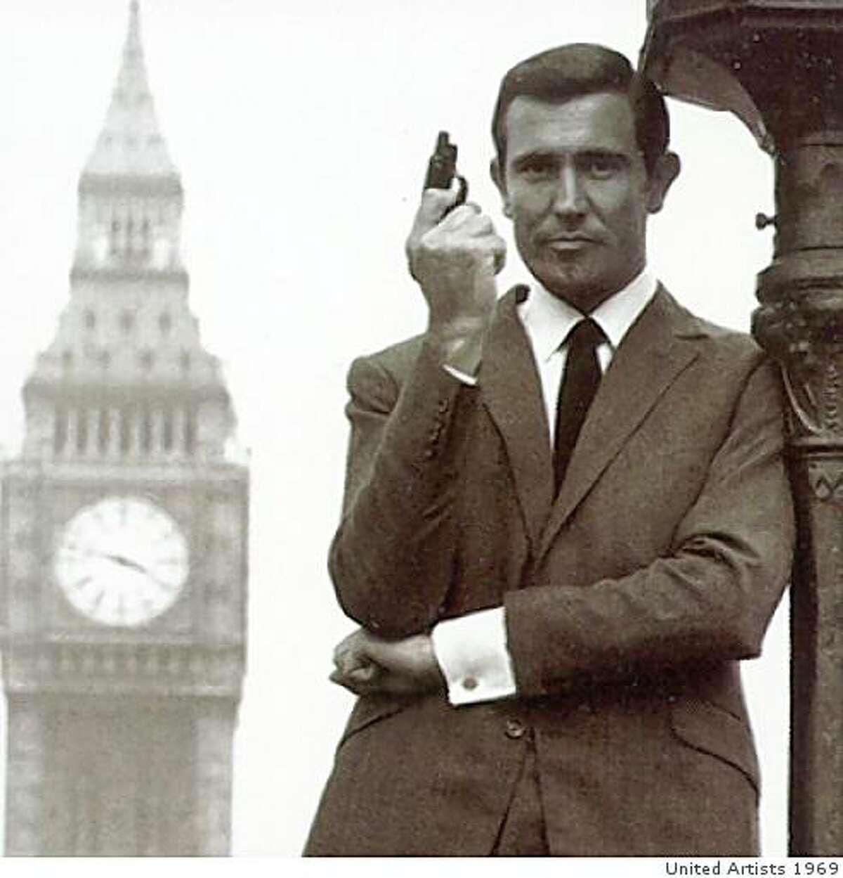 George Lazenby as James Bond.On Her Majesty's Secret Service