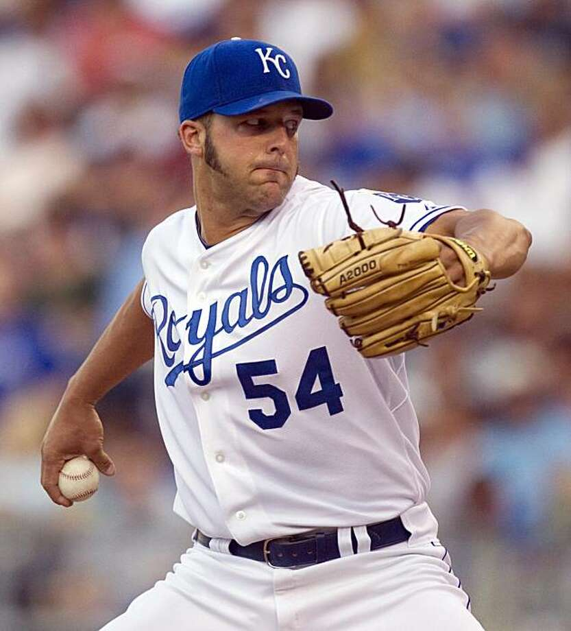 Kansas City Royals starting pitcher Anthony Lerew throws during the second inning of a baseball game against the Chicago White Sox Monday, June 28, 2010 in Kansas City, Mo. Photo: Charlie Riedel, AP