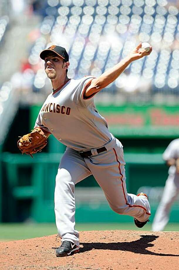 WASHINGTON - JULY 11:  Madison Bumgarner #40 of the San Francisco Giants pitches against the Washington Nationals at Nationals Park on July 11, 2010 in Washington, DC. Photo: Greg Fiume, Getty Images