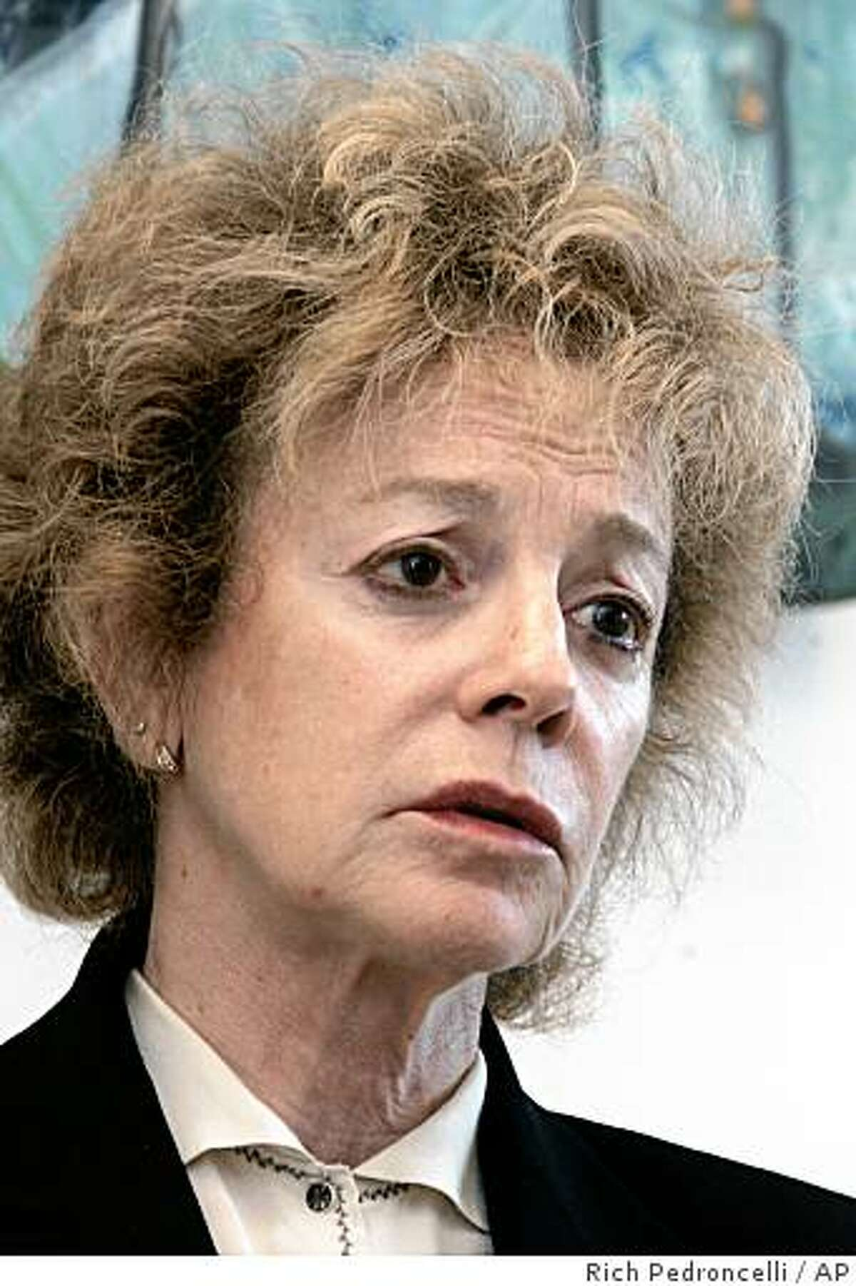 **FILE** State Sen. Carole Migden, D-San Francisco, is seen during an interview with the Associated Press at her office in Sacramento, Calif., in this Thursday, May 24, 2007, file photo. The Fair Political Practices Commission, California's political watch dog agency, filed a $9 million lawsuit Tuesday, March 25, 2008, against Migden, accusing her of consistent and deliberate violations of the state's campaign finance laws. (AP Photo/Rich Pedroncelli)