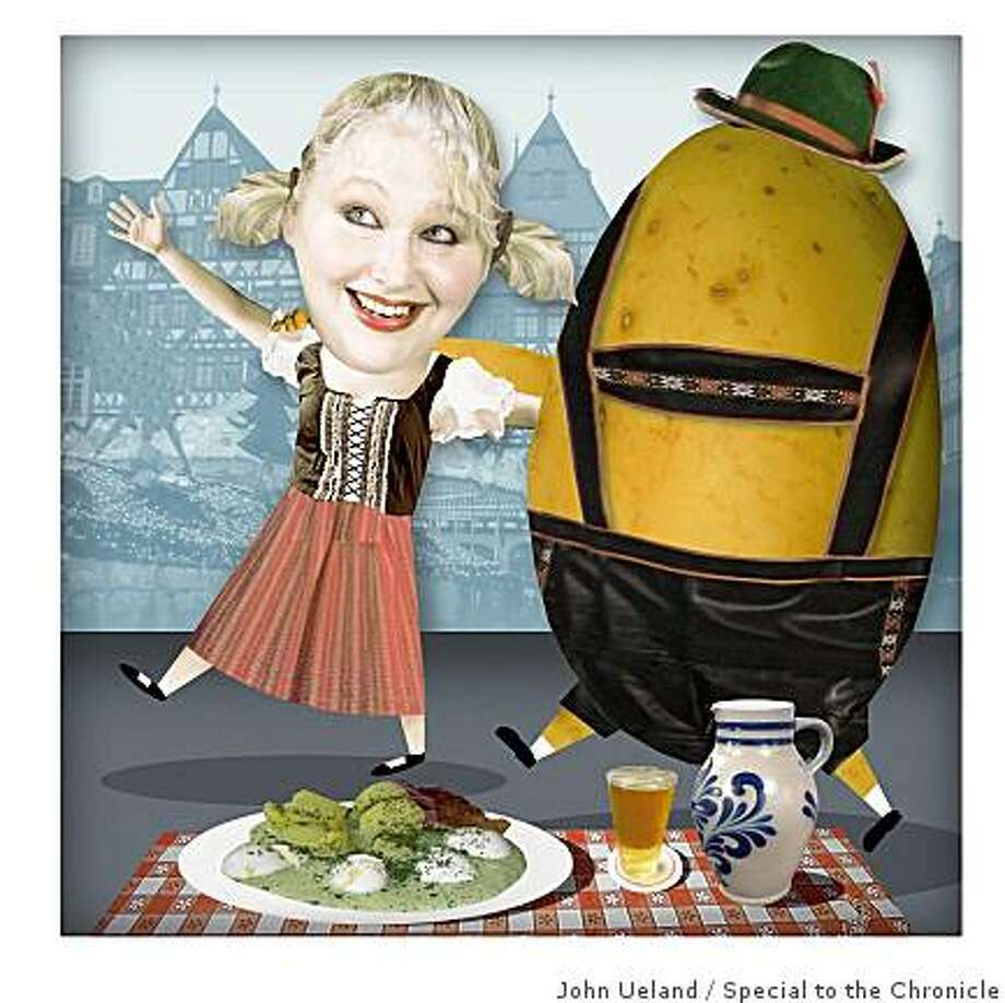 Marlena Spieler enjoying potatoes in Frankfurt. Photo: John Ueland, Special To The Chronicle