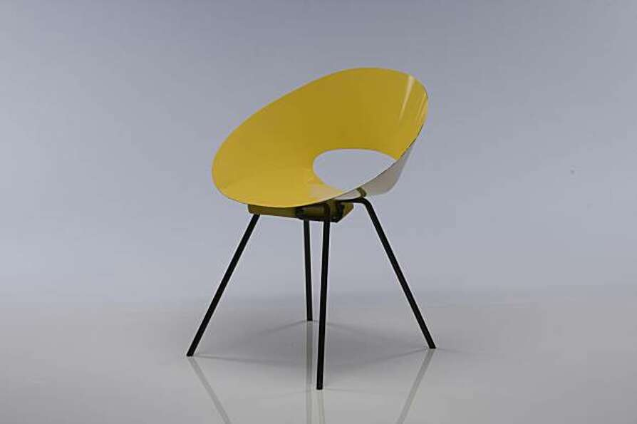 Molded plastic chair from Knoll.