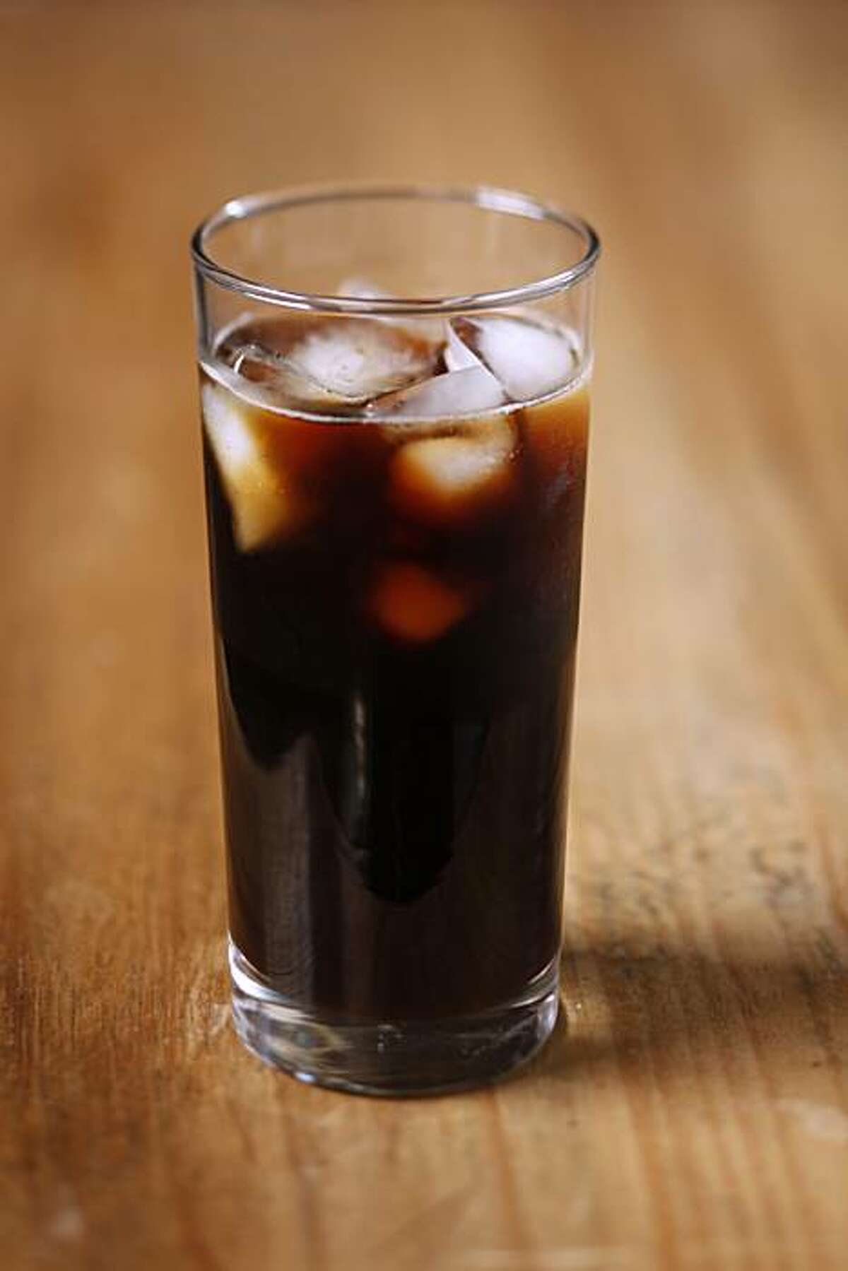Cold-brewed iced coffee in San Francisco, Calif., on June 30, 2010.