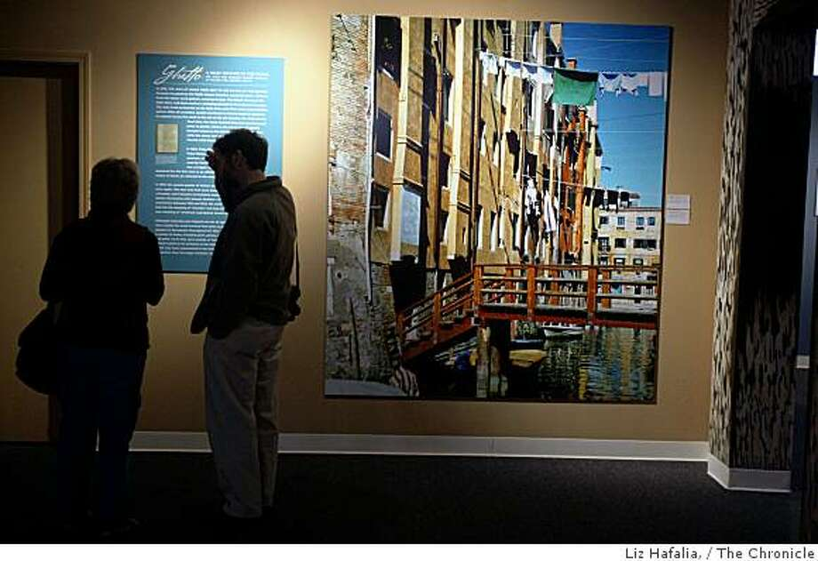 "A portrait of Ghetto Nuovo, Venice , 1541, at the current show at Museo ItaloAmericano: ""Il Ghetto: Forging Italian Jewish Identities 1516 - 1870"" being exhibited at Fort Mason in San Francisco, Ca., on Tuesday, November 11, 2008. Photo: Liz Hafalia,, The Chronicle"