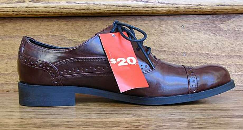 A classic Oxford-style men's shoe at the Powell Street H&M store. Photo: Leonardo DaSilva