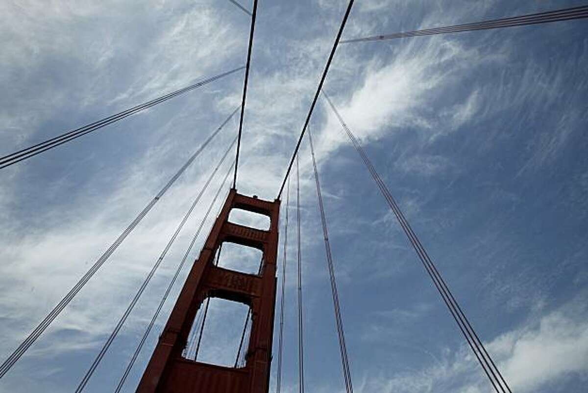 The cables of the Golden Gate Bridge against a clearing sky Thursday April 15, 2010. Chronicle writer Carl Nolte talks about misconceptions about some of the Bay Area's notable icons.