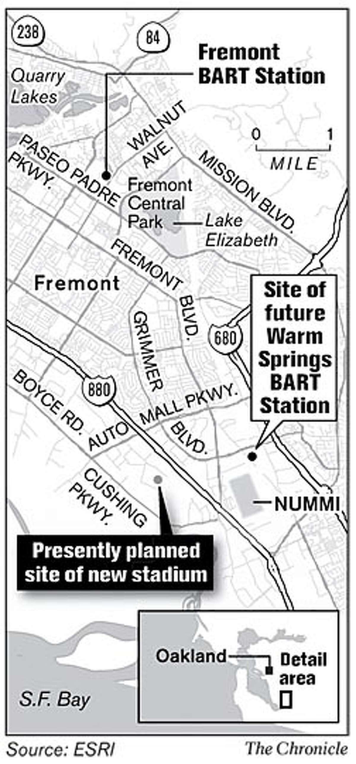 Proposed site of new Athletics stadium
