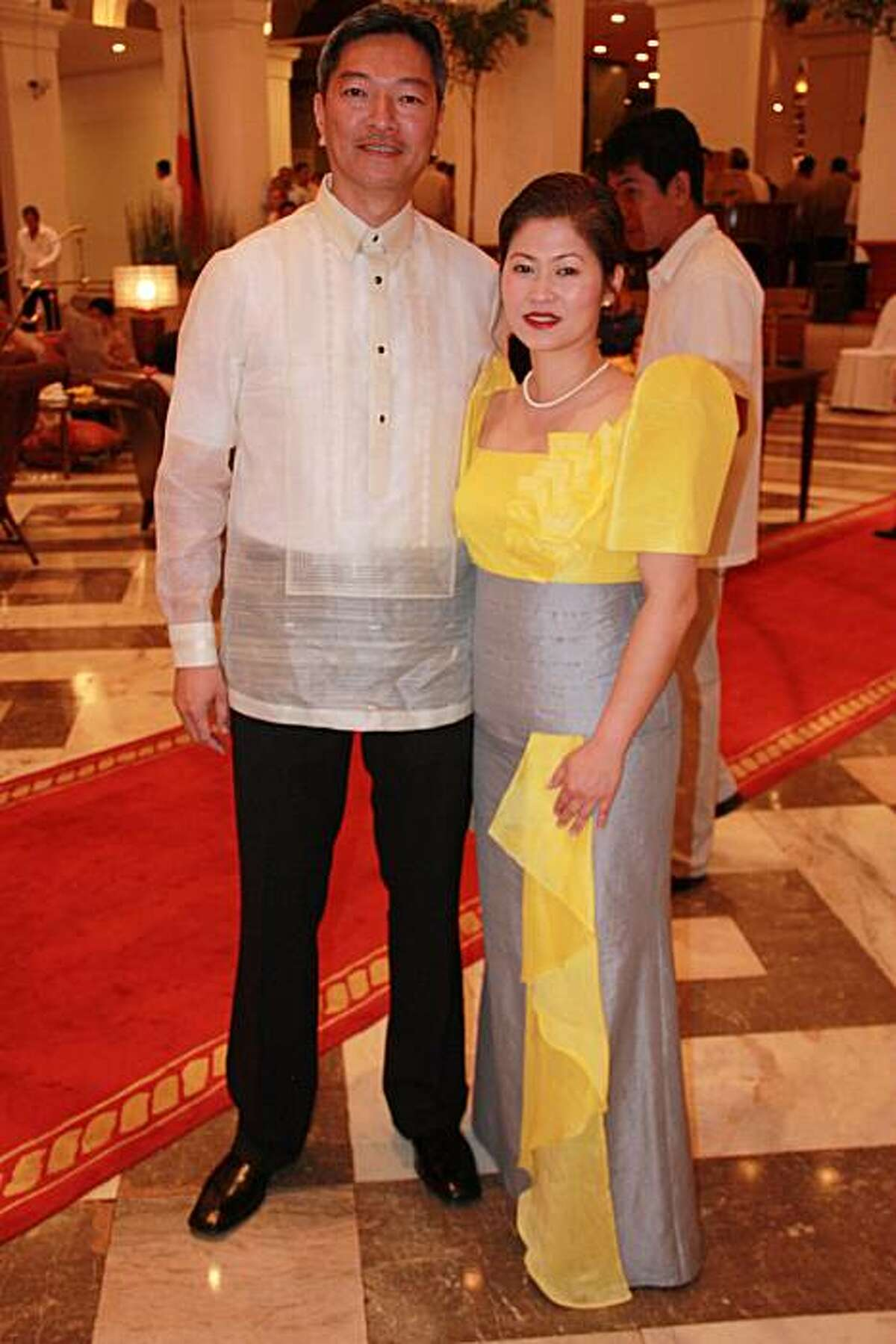 Wilson Ngo and Cherry Aw Young-Ngo of San Ramon, Calif., attended the inauguration of President Benigno Aquino III in Manila on June 30, 2010.
