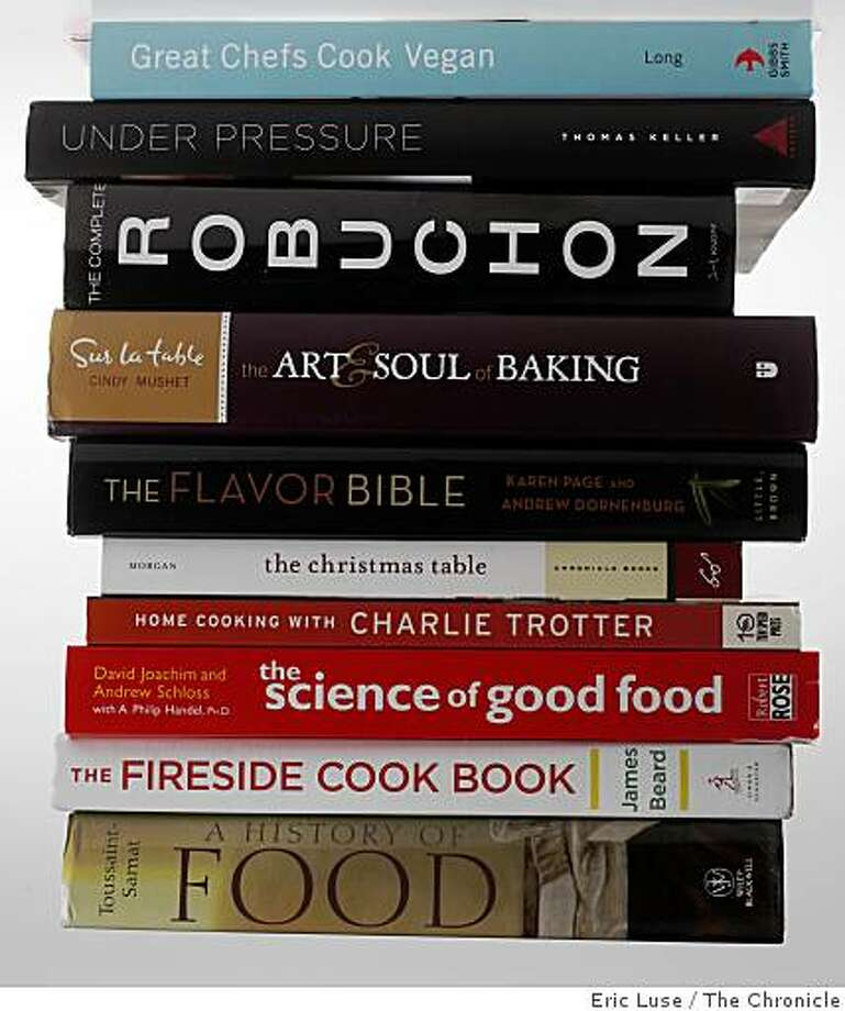 Cooking books photographed on Tuesday, November 25, 2008 in San Francisco. Photo: Eric Luse, The Chronicle