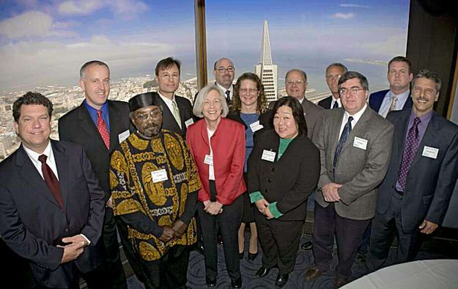 Alameda City Councilwoman Lena Tam, front row, third from right Photo: Special To The Chronicle