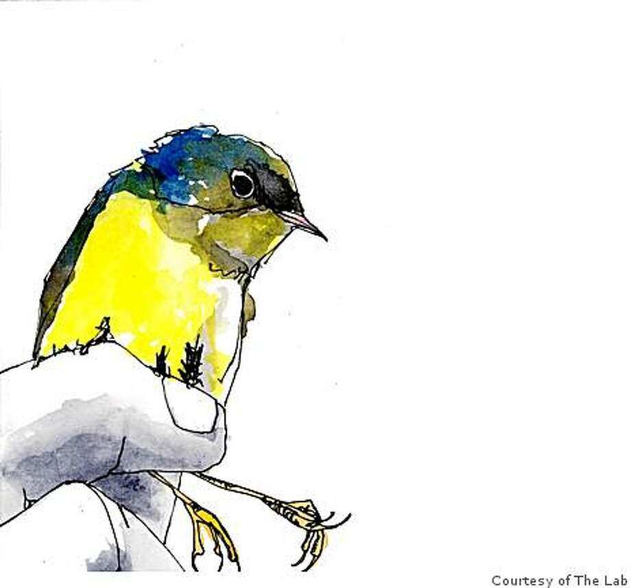 Lee ClineInk and watercolor on papercourtesy of the LAB. Lee Cline's watercolor of a bird is one of the works available at this sale of art on the small scale. Photo: Courtesy Of The Lab