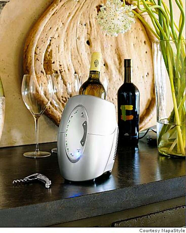 An instant Wine Chiller from NapaStyle. Photo: Courtesy NapaStyle