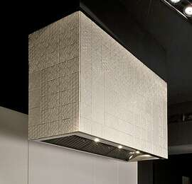 Boffi takes a turn to rustic in white tiles.
