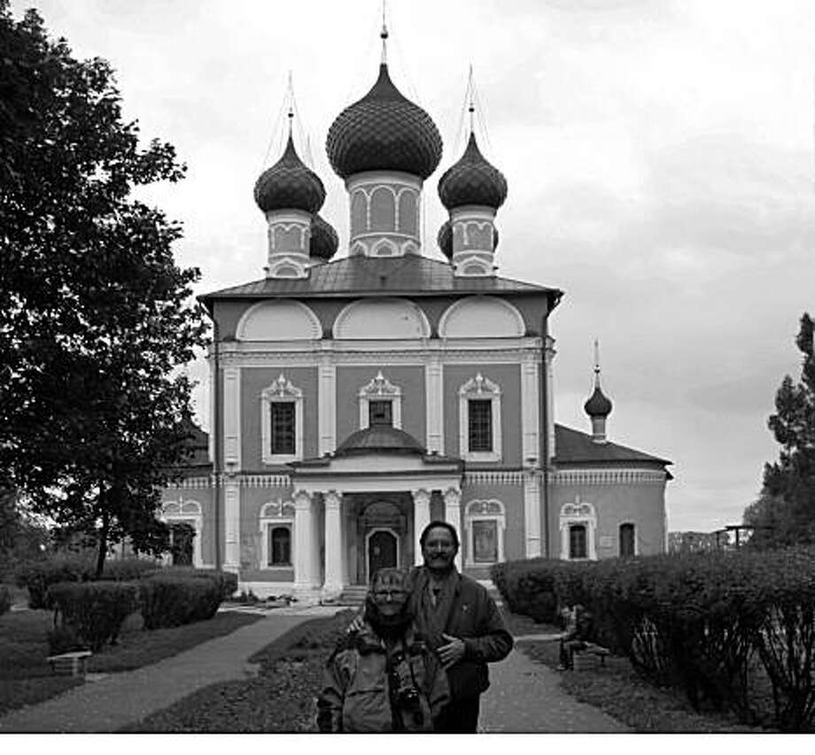 Laurie McAndish King, NovatoEmail: laurie@laurieking.comDaytime phone number: (415) 209-6325Just back from: Uglich, RussiaI went because: To see the magnificent Church of St. Dimitri on the Blood where Ivan the Terrible?s son was murdered in 1591.Don't miss: The five-man chorus singing ancient religious music; it?s heavenly.Don't bother: The famous Tschaika watches (until recently, the Tschaika clock factory manufactured five million timepieces per year) were uninspiring.Coolest souvenir: Colorful matryoshka stacking dolls and intricately painted lacquer boxes are high quality and reasonably priced.Worth a splurge: There is absolutely nothing to splurge on in Uglich. Vodka is an investment.I wish I'd packed: Warmer gloves.Other comments: Uglich?s church bell was thrown from its tower, its ?tongue? (clapper) was cut out, and it was whipped and banished for sounding Dimitri?s death toll.Details of attached photo (if sent): Laurie McAndish King and Jim Shubin in Uglich