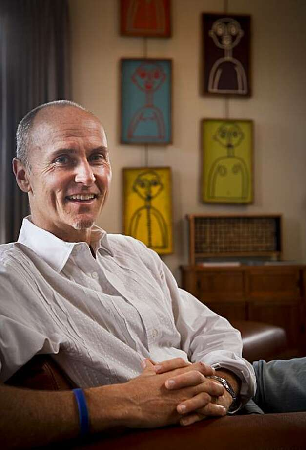 Chip Conley, founder and CEO of Joie de Vivre Hotels, poses in his San Francisco, Calif. home on Friday, May 28, 2010. Photo: Russell Yip, The Chronicle
