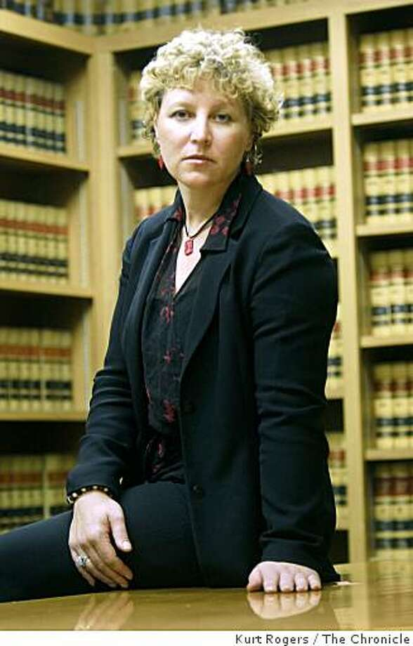 Evanthia Pappas who was saving money for her breast cancer treatment was taken by a credit union loan officer she befriended. Evanthia was photographed in Santa Rosa at the hall of justice where she works as a prosecutor on Wednesday Nov 26  2008. Photo: Kurt Rogers, The Chronicle