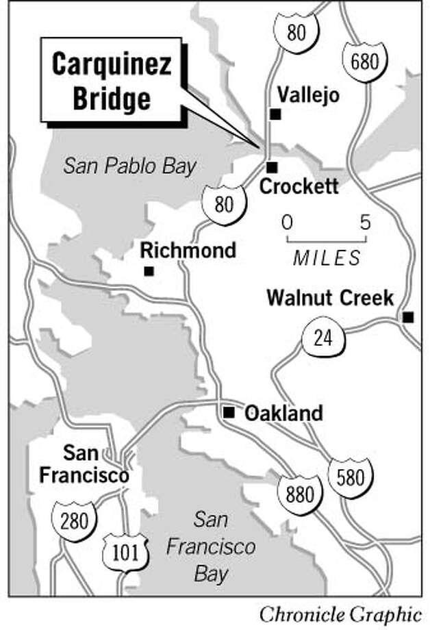 Carquinez Bridge. Chronicle Graphic