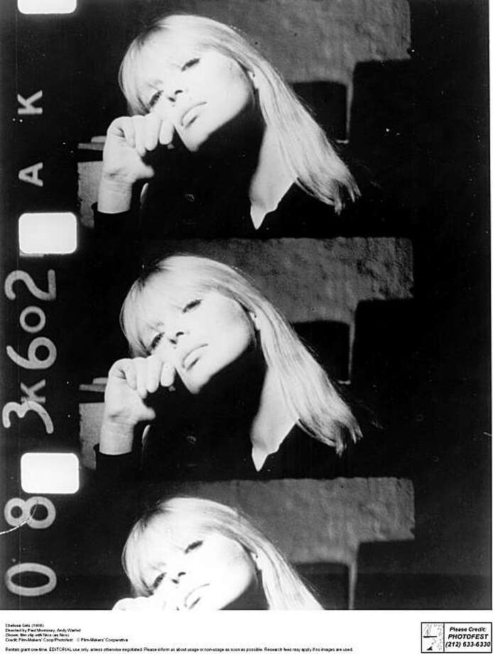 "An image from ""Chelsea Girls,"" the 1966 film by Andy Warhol and Paul Morrssey, featuring Nico. Photo: C. Film-Makers' Coop/Photofest, Courtesy SF MOMA"
