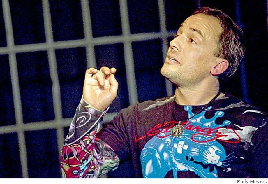 "Carlo D'Amore , star of ""No Parole"" Photo: Rudy Meyers"