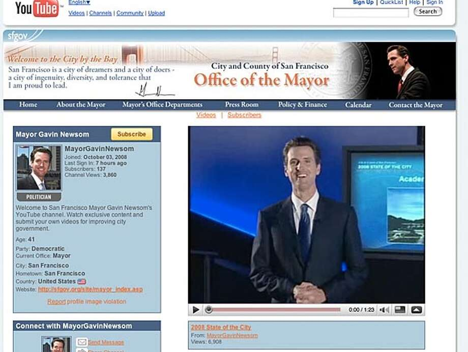 San Francisco Mayor Gavin Newsom posted an epic State of the City speech on YouTube on Monday.