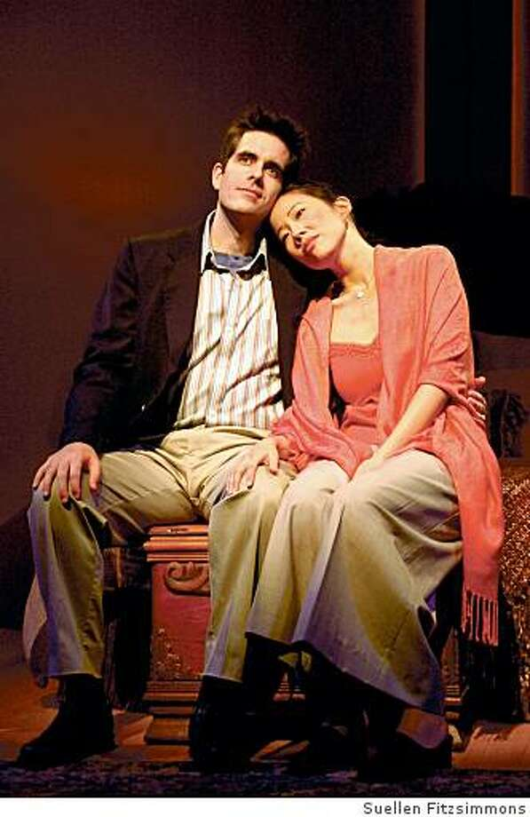 "Ben Evans as Charles and Pearl Sun as Hope in ""Long Story Short,"" a new musical by Brendan Milburn and Valerie Vigoda. Previews Dec. 3-5, opens Dec. 6 at the Lucie Stern Theatre, 1305 Middlefield Road, Palo Alto. A TheatreWorks production. (2008) Photo: Suellen Fitzsimmons"