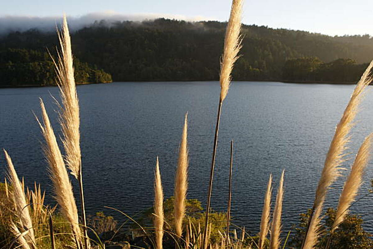 Lower Crystal Springs Reservoir, located off highway 280, at sunset on Saturday, June 26, 2010 in San Mateo, Calif.