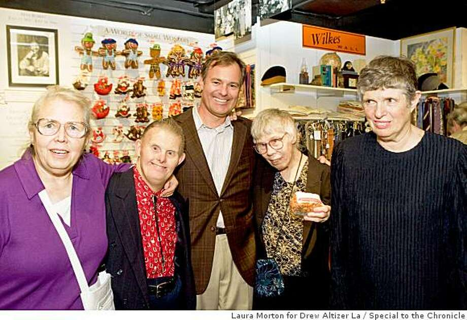 Joy Bianchi hosted the Annual Benefit for Helpers of the Mentally Retarded at Ghirardelli Boutique.Kathy Crum, Jim Alpers, Kurt Hoefer, LaVerne Jetson, Jeanne Sionelli Photo: Laura Morton For Drew Altizer La, Special To The Chronicle