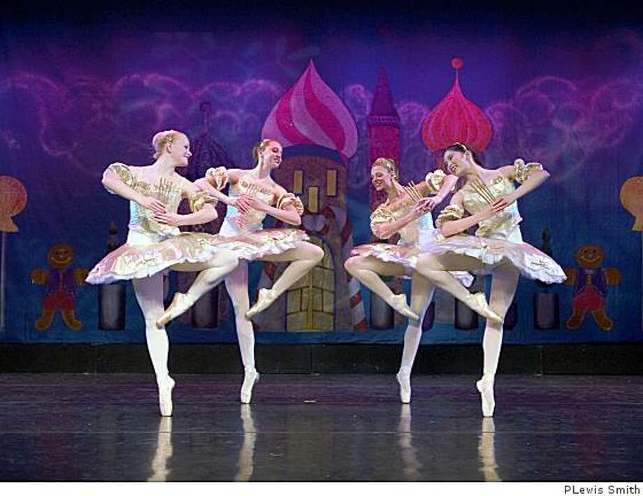 "Diablo Ballet dancers as the mirlitons in ""Nutcracker. Photo: PLewis Smith"