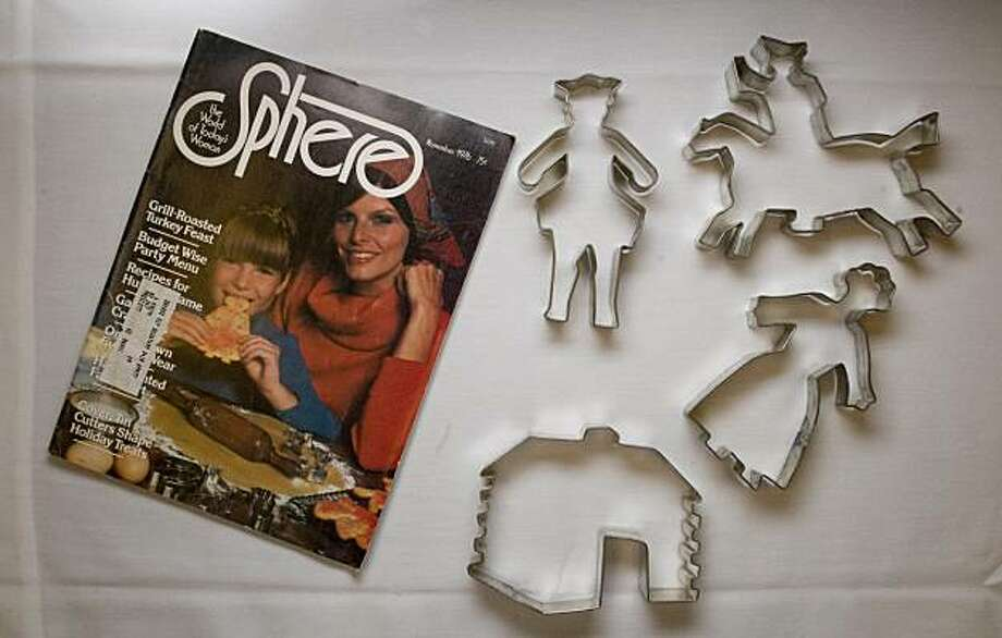 This rare cookie cutter set was featured in a 1976 issue of Sphere magazine and is owned by Joyce Moorhouse of Cannon Falls, Minn., and photographed at the Cookie Cutter Collectors' Club 2010 Convention at the Double Tree Hotel in Burlingame, Calif., on Thursday, June 24, 2010. Photo: Chad Ziemendorf, The Chronicle