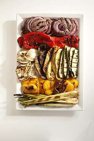 Grilled vegetable platter in San Francisco, Calif., on June 23, 2010. Photo: Craig Lee, Special To The Chronicle