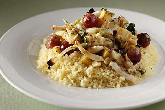 Fennel, Squash & Grapes over Couscous in San Francisco, Calif., on June 23, 2010. Food styled by Anne Dolce. Photo: Craig Lee, Special To The Chronicle