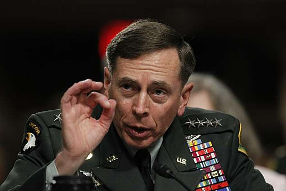 FILE - In this June 29, 2010 file photo, Gen. David Petraeus testifies on Capitol Hill in Washington. The Senate has unanimously confirmed Petraeus as the next commander of the Afghanistan war. The vote was 99-0. Photo: Pablo Martinez Monsivais, AP