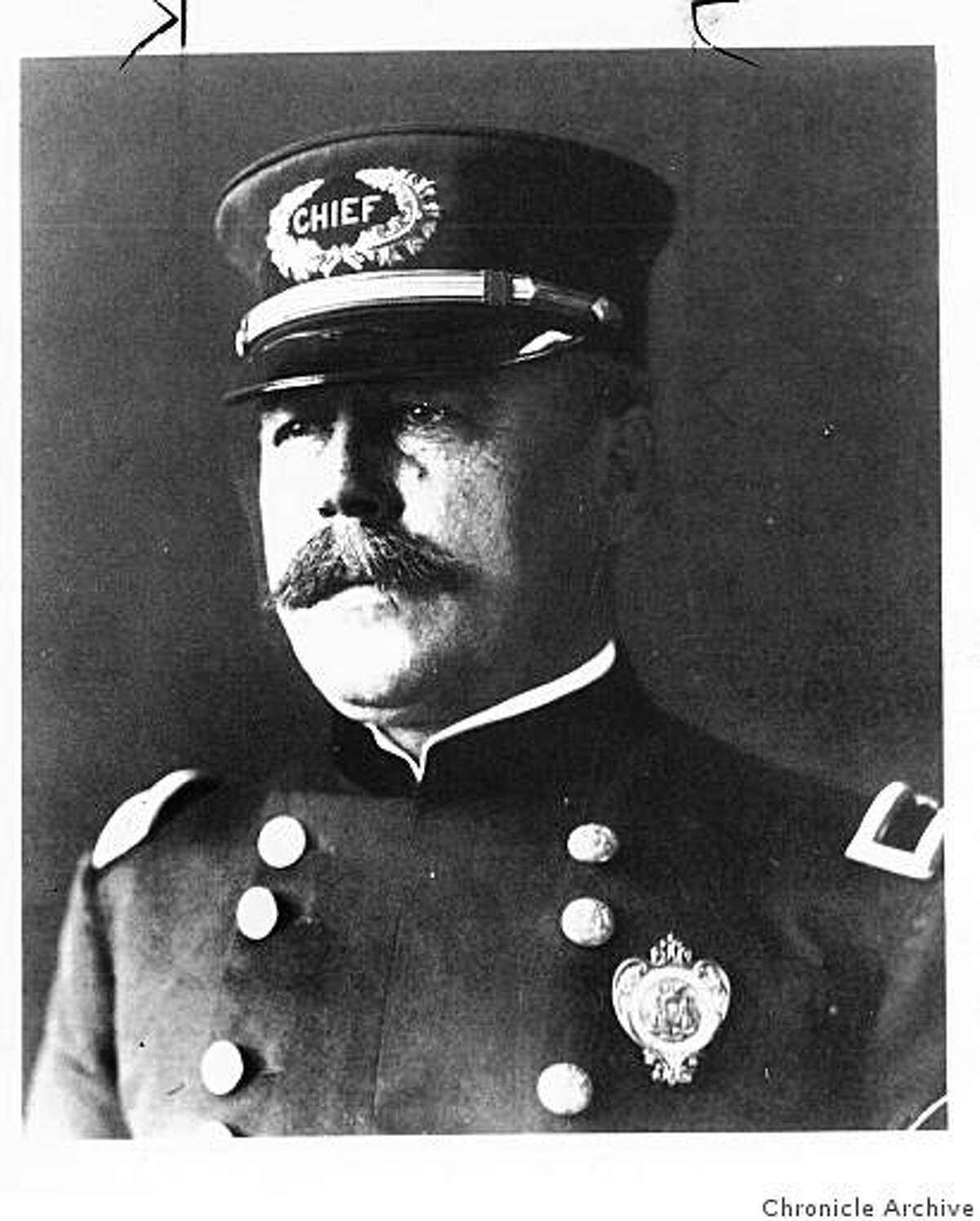 wayback08_PH_biggy.jpg William J. Biggy, SF Chief of Police, in 1908 ruled that if a cop ordered a speeding driver to halt and the driver did not, another cop 50 feet down the road could throw a nail-studded plank in front of the speeding car.Info taken from Chronicle archive story.
