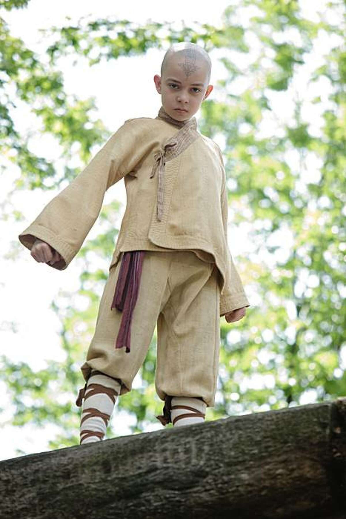 Noah Ringer plays the heroic Aang in the Paramount Pictures/Nickelodeon Movies adventure,