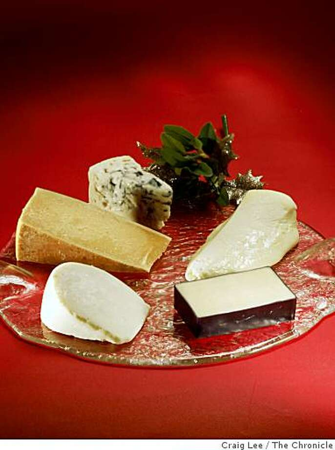 Five cheeses for the holidays, in San Francisco, Calif., on November 20, 2008. Food styled by Cindy Lee. Photo: Craig Lee, The Chronicle