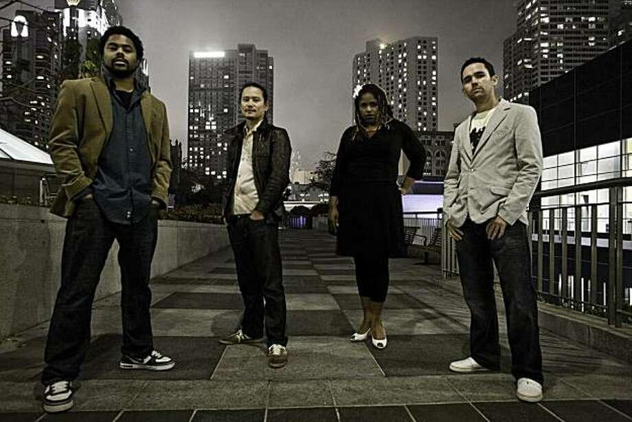 Beatropolis: (L-R) Ax!oM MC, Yoshihiro Sako, Audio Angel, Chris Horgan. Not pictured: Christian Runge,  Steve Hogan. Photo: Alexandre Delarue
