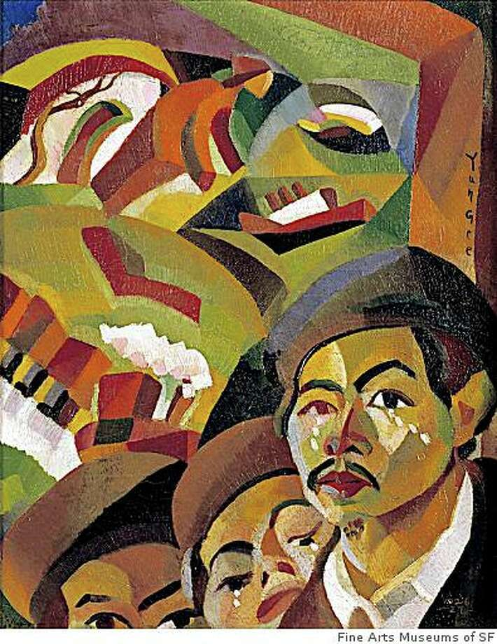 """""""Where Is My Mother,'' a 1926-27 Cubist-informed painting by Yun Gee, is on view at the de Young Museum in """"Asian/American/Modern Art: Shifting Currents, 1900-1970.'' Photo: Fine Arts Museums Of SF"""
