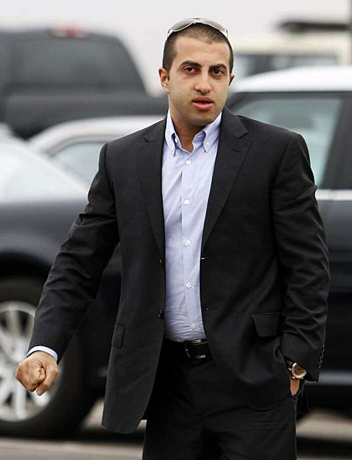 Mosab Hassan Yousef walks into his deportation hearing held at the immigration detention center in San Diego Wednesday, June 30, 2010.  Yousef says he will be killed if he is deported from the United States to the West Bank. The oldest son of one of Hamas' founders, he was an Israeli spy for a decade, and he abandoned Islam for Christianity, further marking him a traitor. Photo: Denis Poroy, AP