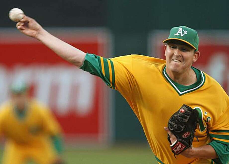 Oakland Athletics' Trevor Cahill works against the Pittsburgh Pirates during the first inning of a baseball game Saturday, June 26, 2010, in Oakland, Calif. Photo: Ben Margot, AP