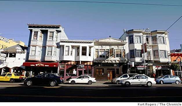 Valencia St is about to go under a beautification and part of this renovation is new and more lights trees and bike racks. on Friday  Nov 21  2008 in San Francisco, Calif Photo: Kurt Rogers, The Chronicle