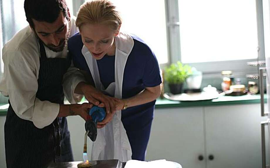 """In this film publicity image released by Magnolia Pictures, Edoardo Gabbriellini, left, and Tilda Swinton are shown in a scene from, """"I am Love."""" Photo: AP"""