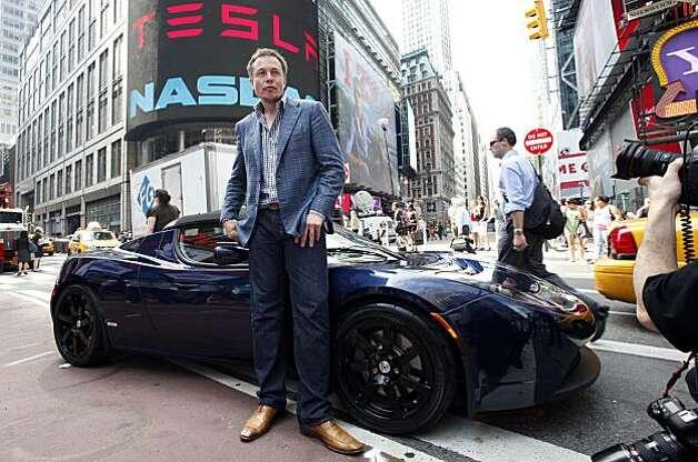 Tesla Ipo Gains Speed Sfgate