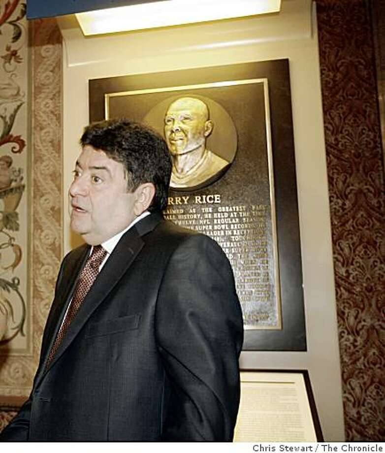 bashof_0202_cs.jpg  Event on 4/26/07 in San Francisco. Jerry Rice joshes with former 49ers owner Eddie DeBartolo, Jr. as Rice joined three other Bay Area stand out athletes - Jennifer Azzi, Will Clark and Jerry Coleman as they met with the media at the Westin St. Francis Hotel before their induction ceremony into the Bay Area Sports Hall of Fame Thursday night, April 26, 2007.  Chris Stewart / San Francisco Chronicle  Will Clark, Jennifer Azzi, Jerry Rice, Jerry Coleman Ran on: 11-26-2008 The Hall of Fame wait continues for Eddie DeBartolo Jr. He was not among the nominees announced Tuesday. D4 Ran on: 11-26-2008 Photo: Chris Stewart, The Chronicle