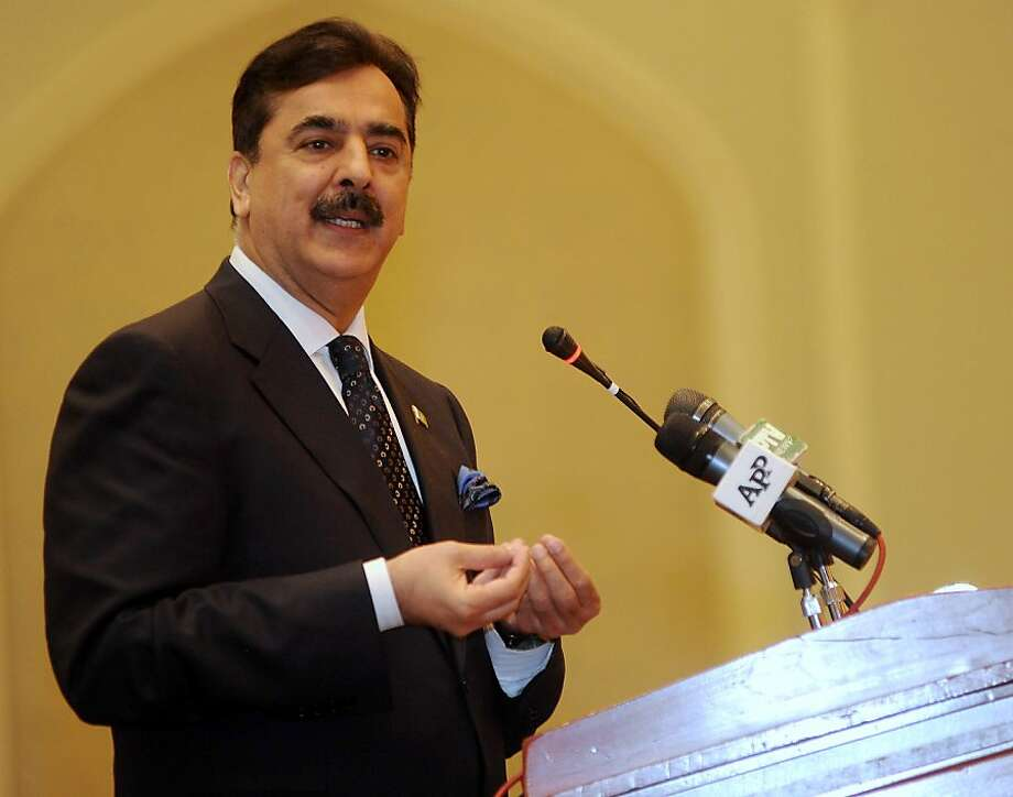 In a file picture taken on February 6, 2012, Pakistan's Prime Minister Yusuf Raza Gilani speaks to the Pakistani community in Doha. Pakistan's top court on February 10, 2012 threw out an appeal from embattled Prime Minister Yousuf Raza Gilani against contempt charges, paving the way for him to be indicted next week. Photo: Str, AFP/Getty Images